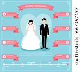 couple of newlyweds groom and... | Shutterstock .eps vector #667067197