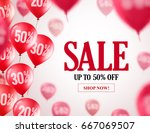 sale balloons vector background.... | Shutterstock .eps vector #667069507