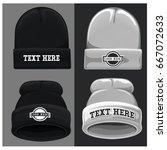 beanie hat vector template