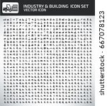 industry and building icon set... | Shutterstock .eps vector #667078123