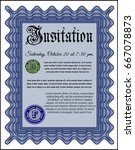 blue formal invitation.... | Shutterstock .eps vector #667078873