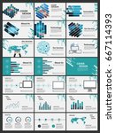 blue elements for infographics... | Shutterstock .eps vector #667114393