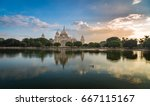 victoria memorial kolkata at... | Shutterstock . vector #667115167