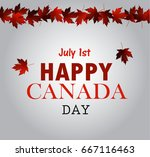 leaf line canada day card in... | Shutterstock .eps vector #667116463