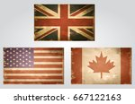 british usa and canada flags... | Shutterstock .eps vector #667122163
