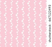 seamless pattern of flowers on... | Shutterstock .eps vector #667122493