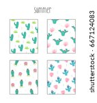 summer pattern illustration | Shutterstock .eps vector #667124083