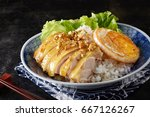 chinese cuisine chicken rice | Shutterstock . vector #667126267