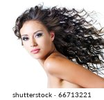 face of  a beautiful young... | Shutterstock . vector #66713221