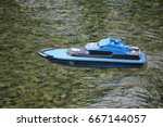 small remote controlled boat... | Shutterstock . vector #667144057