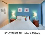 master bed room including lamps ... | Shutterstock . vector #667150627