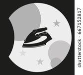 steam iron icon. | Shutterstock .eps vector #667152817