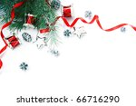 christmas decorations border.... | Shutterstock . vector #66716290