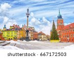royal castle  ancient colorful... | Shutterstock . vector #667172503