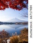 mt. fuji smile in winter | Shutterstock . vector #66717484