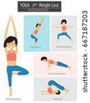 yoga for weight loss... | Shutterstock .eps vector #667187203