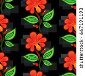 endless abstract pattern.... | Shutterstock .eps vector #667191193