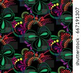 endless abstract pattern.... | Shutterstock .eps vector #667191307