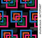 endless abstract pattern.... | Shutterstock .eps vector #667195687