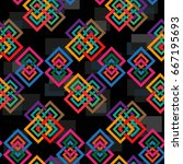 endless abstract pattern.... | Shutterstock .eps vector #667195693