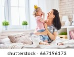 happy loving family. mother and ... | Shutterstock . vector #667196173