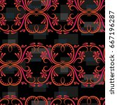 endless abstract pattern.... | Shutterstock .eps vector #667196287