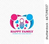 happy family logo vector   Shutterstock .eps vector #667198537