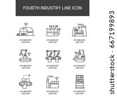 industrial revolution line icon | Shutterstock .eps vector #667199893