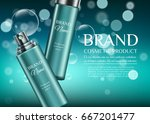 a beautiful cosmetic templates... | Shutterstock .eps vector #667201477