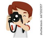 vector illustration of a kid... | Shutterstock .eps vector #667202557