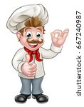 cartoon chef or baker character ... | Shutterstock .eps vector #667240987
