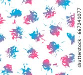 seamless pattern with color... | Shutterstock .eps vector #667241077