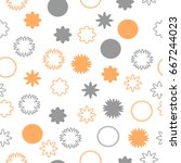seamless pattern of abstract... | Shutterstock .eps vector #667244023