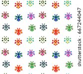 seamless pattern of funny... | Shutterstock .eps vector #667244047