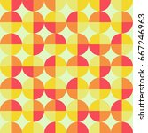 vintage geometric pattern with... | Shutterstock .eps vector #667246963