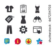 clothes icons. t shirt with...