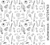 seamless pattern for happy... | Shutterstock .eps vector #667254763