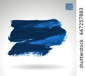 blue brush stroke and texture.... | Shutterstock .eps vector #667257883
