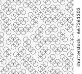 vector seamless pattern.... | Shutterstock .eps vector #667261303