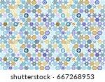 vector seamless patchwork... | Shutterstock .eps vector #667268953