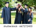 graduation student commencement ... | Shutterstock . vector #667272403