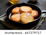 fritters  curd cheese pancakes...   Shutterstock . vector #667279717