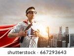 usa superhero. young... | Shutterstock . vector #667293643