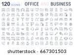 set line icons in flat design... | Shutterstock . vector #667301503