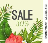 Sale Poster On Background With...