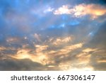 Landscape View Of Sunset At Th...