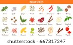 big vector set of popular... | Shutterstock .eps vector #667317247