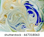 marbled blue and green abstract ... | Shutterstock . vector #667318063