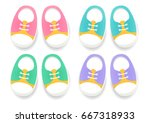 set of baby sport shoes.... | Shutterstock .eps vector #667318933
