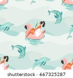 hand drawn vector abstract cute ... | Shutterstock .eps vector #667325287